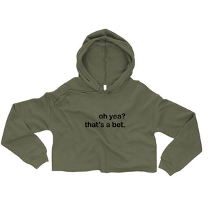 oh yea? that's a bet. crop hoodie