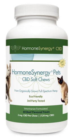 HormoneSynergyPets CBD - Zero THC CBD K9 Soft Chews for Dogs - 60 ea. Soft Chews! FREE PRIORITY US SHIPPING!