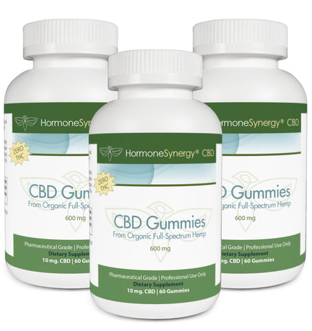 600 mg. CBD Gummies Bundle (3 Pack) - Full Spectrum Nano-Emulsion CBD - 540 ea. 10 mg. Gummies | FREE PRIORITY US SHIPPING!