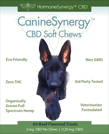 CanineSynergy™ CBD - Zero THC CBD K9 Soft Chews for Dogs - 60 ea. Soft Chews! FREE US SHIPPING!