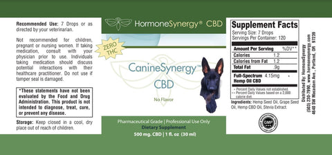 Bundle of (3) CBD Hemp Oil Liquid for pets - 500 mg - NO FLAVOR - FREE US SHIPPING!