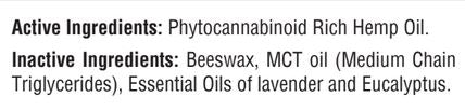 500 mg. Phytocannabinoid-Rich (PCR) Full Spectrum Lavender / Eucalypus Balm - CBD - FREE US SHIPPING!