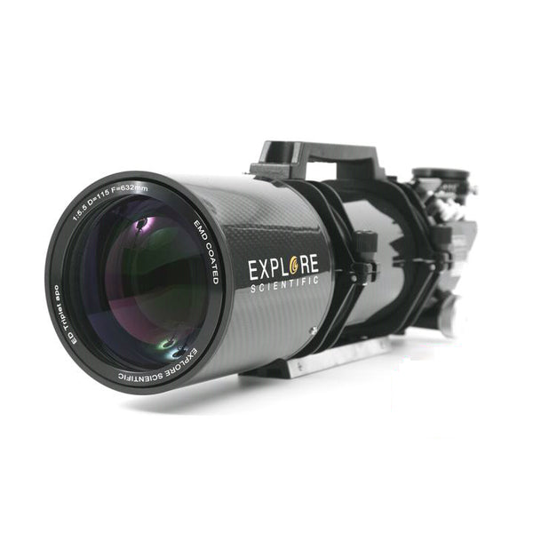 "Explore Scientific Carbon Fiber ED115 APO Triplet FPL53 W/ 3"" Starlight Focuser"