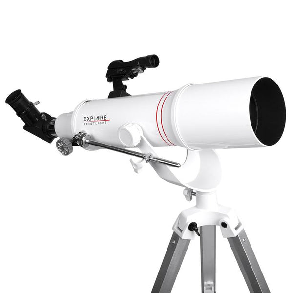 Explore FirstLight 90mm Refractor with AZ Mount + Smartphone Camera Adapter
