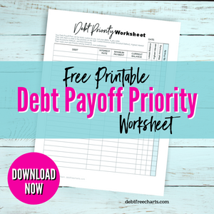 Figure Out What to Pay off First (or next) with a Debt Priority Worksheet - Free Printable