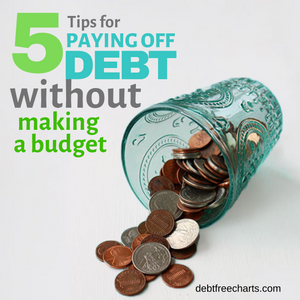 Top 5 Tips to Pay Off Debt - without making a budget!