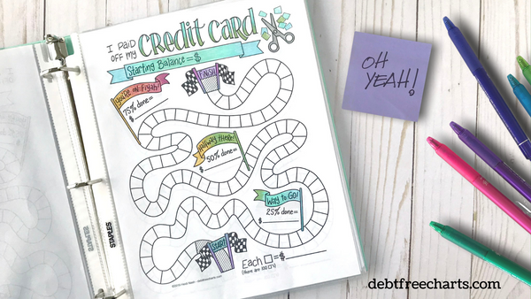 credit card debt payoff tracker free printable download game candyland