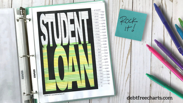student loan debt payoff tracker free printable download