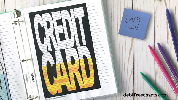 credit card debt payoff tracker free printable download