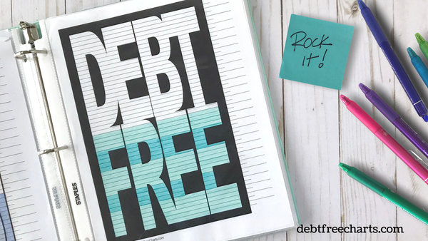 debt free chart payoff tracking printable