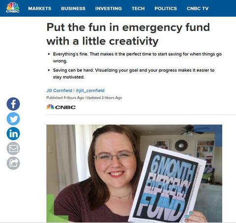 CNBC Article - Put the fun in emergency fund with a little creativity