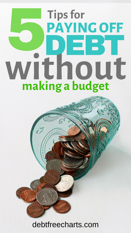 5 tips to paying off debt without making a budget