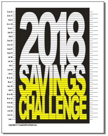 rock your 2018 savings challenge goal debt free charts