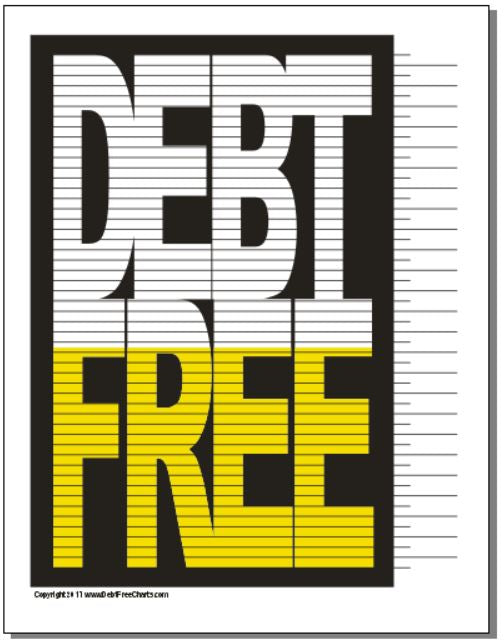 graphic relating to Free Printable Debt Free Charts referred to as All Charts Tagged \