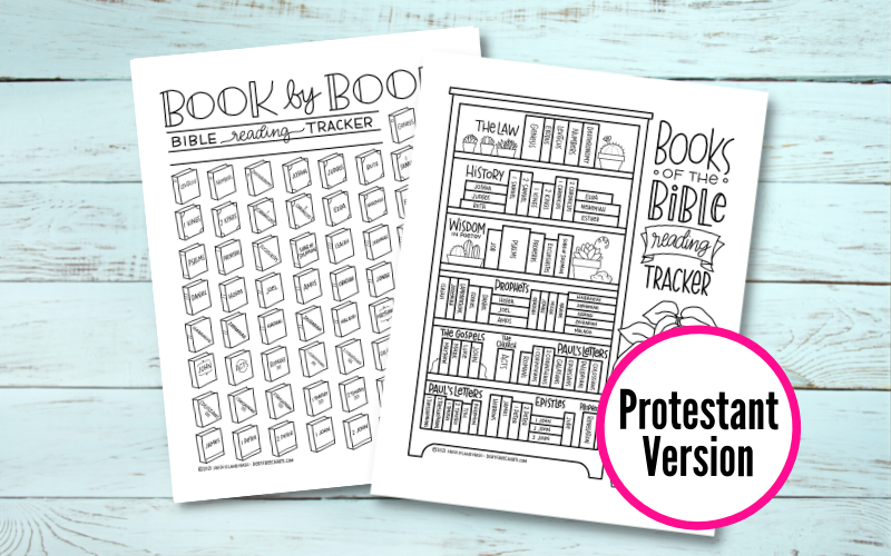 Bible reading printable tracker download catholic book by book bookshelf
