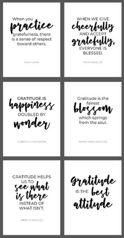 Filling the Jars printable gratitude quotes