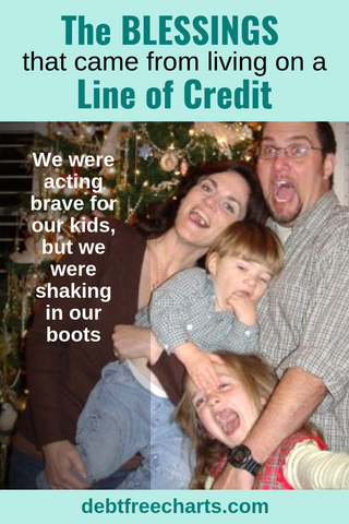The blessings that came from living on a line of credit - Debt Free Charts