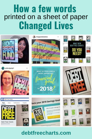How a few words printed on a sheet of paper changed lives - Debt Free Charts