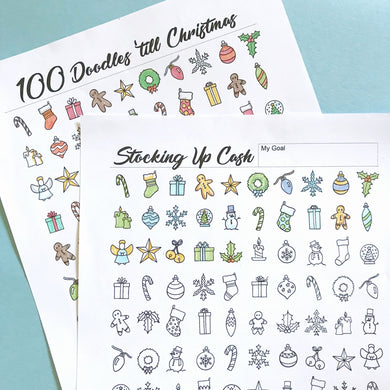 100 Doodles 'till Christmas - Stocking Up Cash