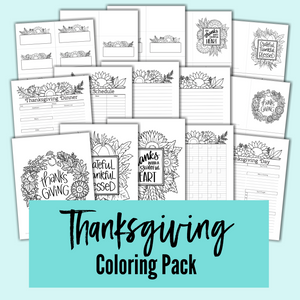 Thanksgiving Coloring Pack