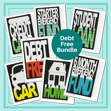 Debt Free Bundle of 7 Charts