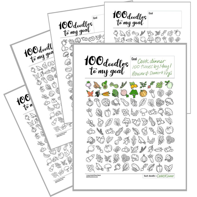 100 Healthy Food Doodles (Foodles?)