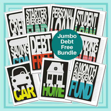 Jumbo Debt Free Bundle of 10 Charts