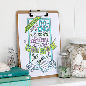 Anything Worth Doing - Coloring Page