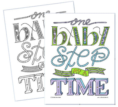 One Baby Step at a Time - Coloring Page