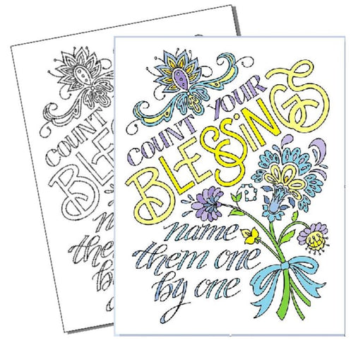 Count Your Blessings - Coloring Page