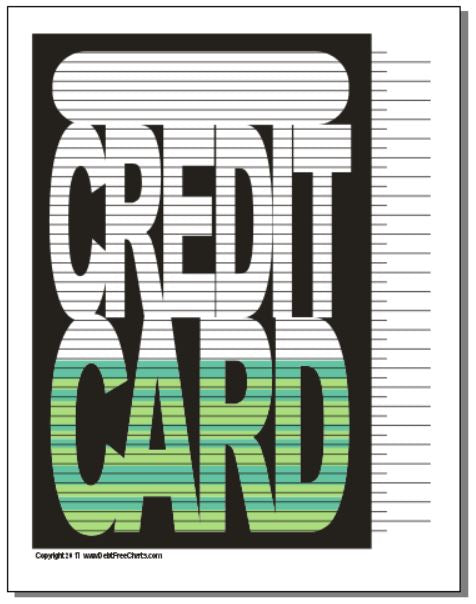 Credit Card Debt Payoff Chart with