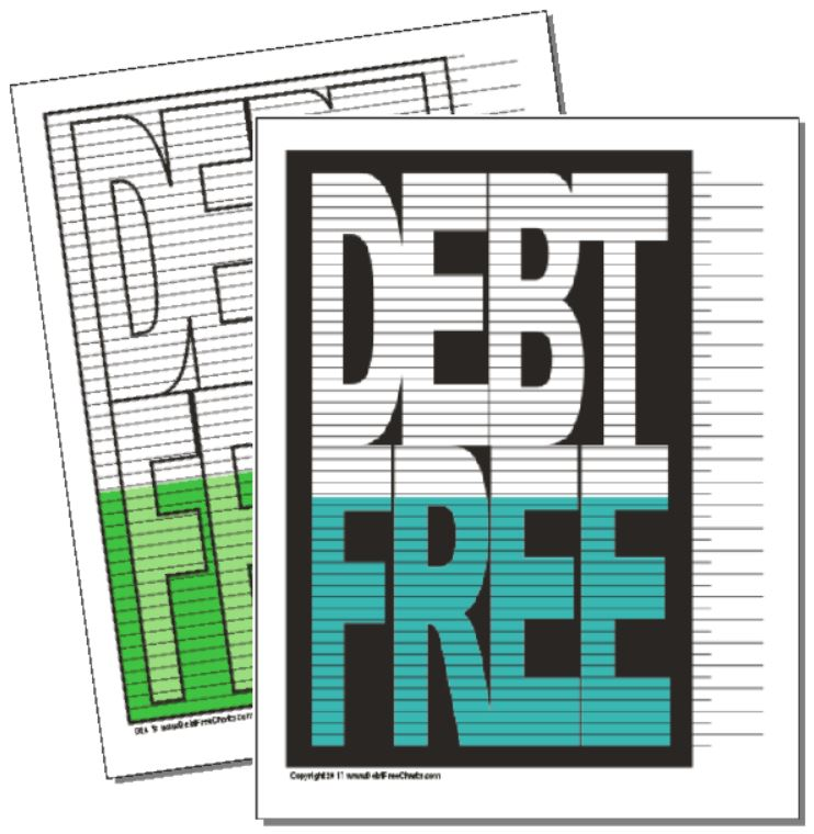 photo relating to Free Printable Debt Free Charts named The Initial Personal debt Cost-free Chart Personal debt No cost Charts