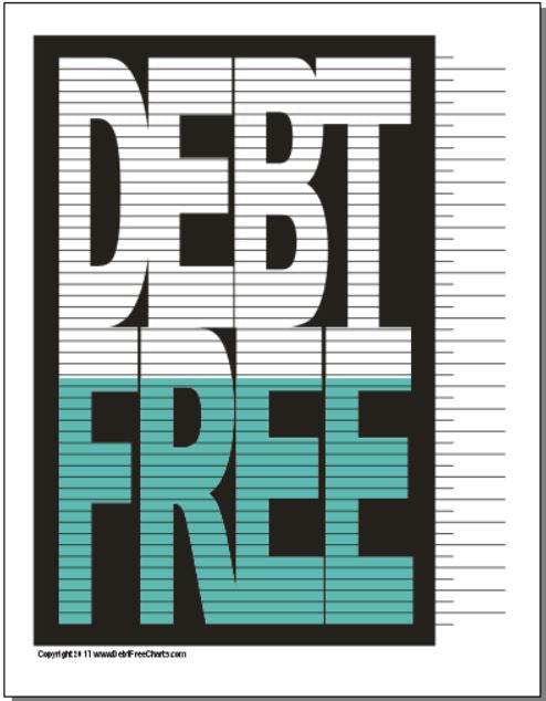 graphic relating to Free Printable Debt Free Charts called The Primary Personal debt Totally free Chart Credit card debt Totally free Charts