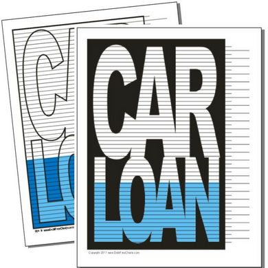 Car Loan debt payoff visual printable chart
