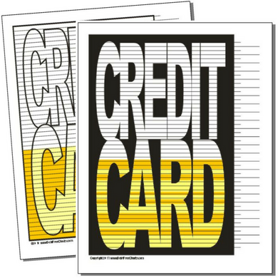 Credit Card debt payoff visual printable chart