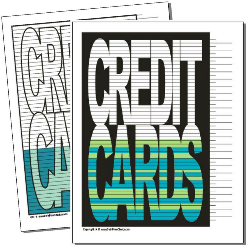Credit Cards Debt Payoff Chart