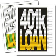 401k Loan debt payoff visual printable chart