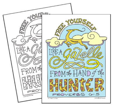 Free Yourself Like a Gazelle - Coloring Page