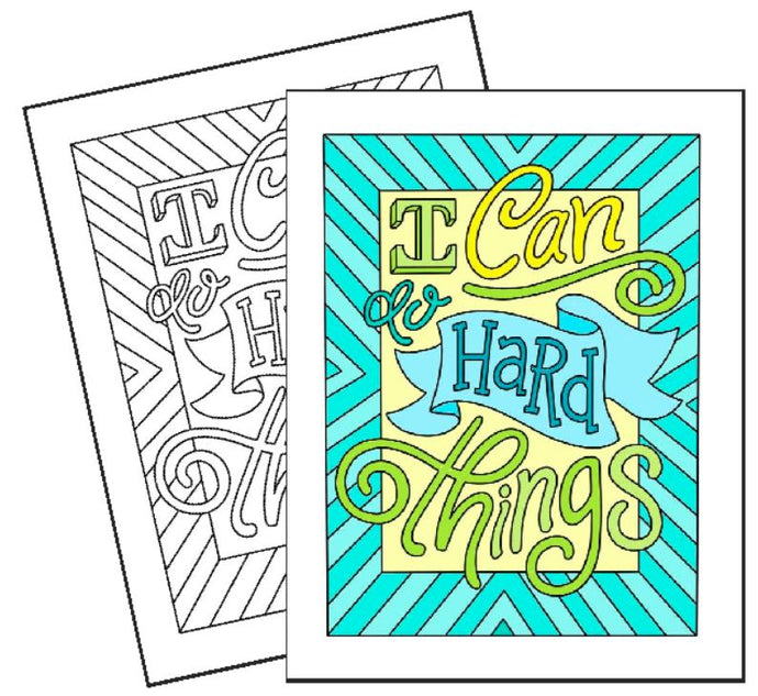 I Can do Hard Things - Coloring Page