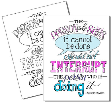 The Person who is Doing it - Coloring Page