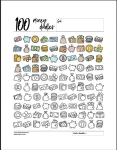 100 Money Doodles
