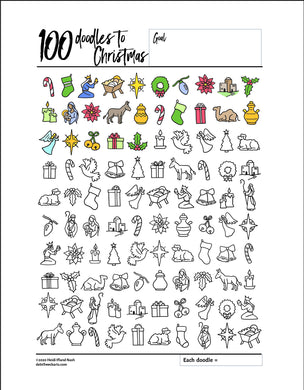 100 Christmas Nativity Doodles
