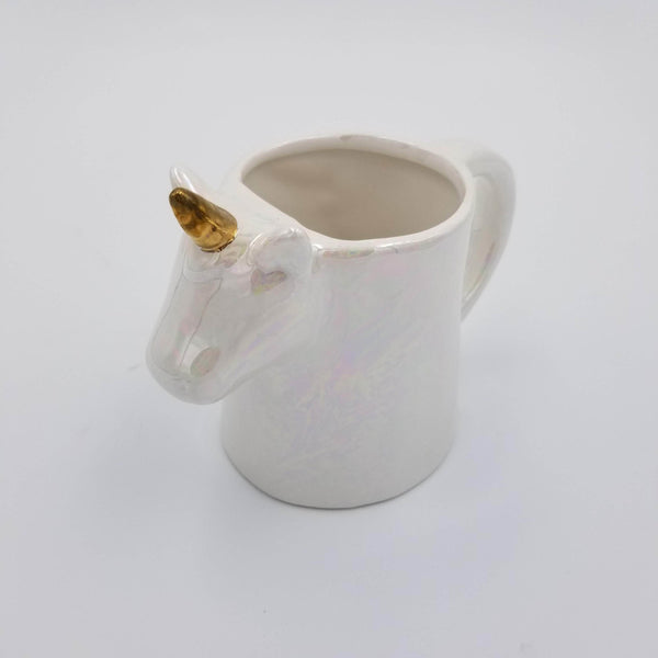 White and Gold Unicorn Mug
