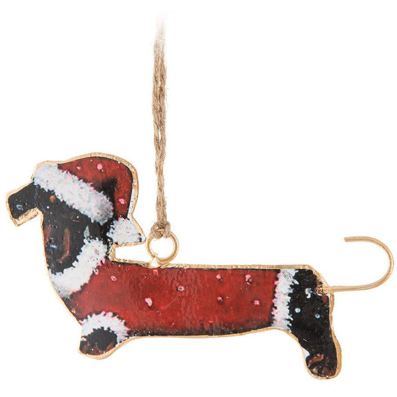 "Dachsund Ornament 2.5"" wide"