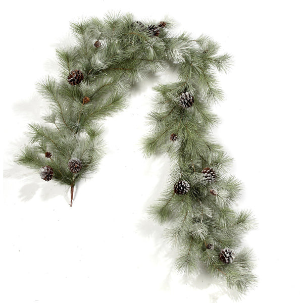 6' Frosted Mixed Pine Artificial Garland