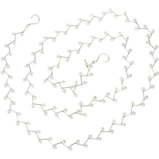 ZIGZAG CLEAR BEAD GARLAND ON SILVER METAL BASE  6