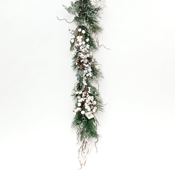 Crystal and White Berry Garland
