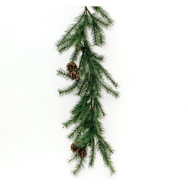 Pine Garland with Pine Cones