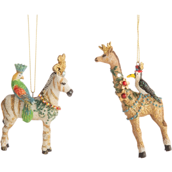 RESIN FANTASY ANIMAL ORNAMENTS, GIRAFFE 4IN