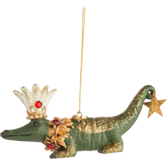RESIN FANTASY ANIMAL ALLIGATOR ORNAMENT, 4 IN